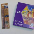 Reeves Oil Colour Paint Art Set 18 Colours/Colors & 2 sketch pencils*Brand New**