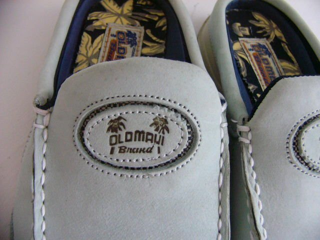 Old Maui Brand Kona shoes  Women's size 7M Mules Slip-ons Hawaiian LEATHER SLIDE