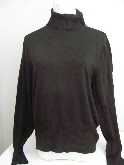NYGARD COLLECTION BROWN TURTLENECK SIZE LARGE 14-16 WOMANS WARM!