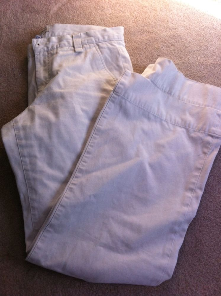 BANANA REPUBLIC WOMENS BEIGE cream COTTON PANTS SLACKS JEANS SIZE 8