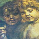 "ANDREA DEL SARTO PRINT PHOTO 'DUE PUTTI' N.150 16""X9"" TWO ANGELS CHURAB FLORENCE"