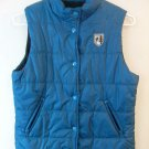 AMERICAN EAGLE OUTFITTERS TEAL BLUE MEDIUM GIRLS WOMANS PUFFY WINTER VEST COAT