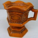 Vintage Royal Haeger Beautiful Burnt Orange Large Candle Holder with Handle