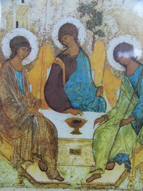 Andrei Rublev  - the Trinity famous Russian painter  Poster Print double Matted