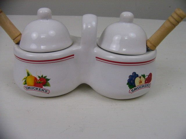 Smuckers Jelly Jam Serving Set With Spoons JM Smucker Co. #31839 RARE