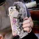 iPhone 7 DIY Furry Fur Bling Rhinestone Crystal Elegant Phone Case Cover