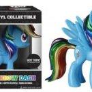FUNKO My Little Pony Metallic Rainbow Dash Vinyl Figure Hot Topic 25th Anniversary Exclusive