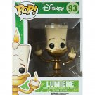 Funko Disney Beauty & The Beast Pop! GID Lumiere Vinyl Figure Hot Topic Exclusive