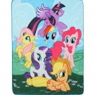 "Retired MLP | My Little Pony Mane Six 48"" x 60"" Super Plush Fleece Throw Blanket"
