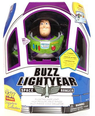 """Disney Signature Collection Toy Story 12"""" Buzz Lightyear Talking Action Figure by Thinkway Toys"""