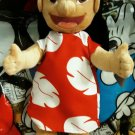 "Retired Disney Store Lilo & Stitch Hawaii 15"" Lilo Plush Doll with Red & White Floral Dress"