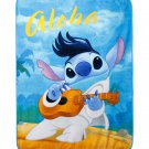 "Retired Disney Lilo & Stitch Elvis Stitch 48"" x 60"" Super Plush Fleece Throw Blanket"