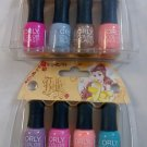 Set of 2 - ORLY Color Blast Disney Belle Collection 8 Mini Nail Polish - Walgreens Exclusive NIP