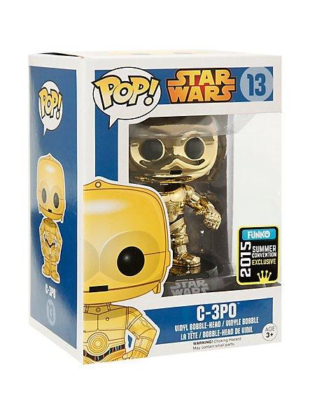 FUNKO Star Wars Pop! Gold C-3PO Vinyl Bobble-Head 2015 SDCC Summer Convention Exclusive