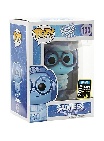 FUNKO Disney Inside Out POP! #133 Glitter Sadness Vinyl Figure 2015 SDCC Summer Convention Exclusive