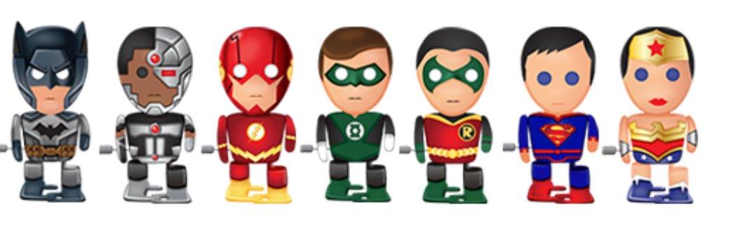 Complete Set of 7 - Bulls i ToyDC Comics: Justice LeagueWind Ups Walking Toy Figure