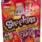 Shopkins Season 1 & 2 - 14 Collector Cards + Shopkins Figure Blind Bag x14 Sealed