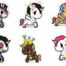 Set of 6 Authentic Kawaii Retired tokidoki Unicorno Vinyl Stickers Decals