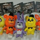 "Complete Set of 5 FNAF Five Nights At Freddy's 5"" Plush Hangers Collector Clips"