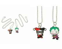 DC Comics The Joker & Harley Quinn Kawaii BFF Pendant Necklace Set
