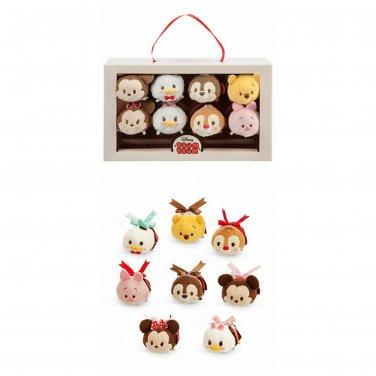 Disney Store Tsum Tsum Set of 8 Mickey & Friends Valentine Candy Box Mini 3.5� Figures Plush Pack