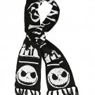 Disney Tim Burton's The Nightmare Before Christmas Black & White Fair Isle Knit Scarf
