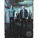 "Supernatural 11 ¾"" x 9"" Tin Sign by Open Roads - Sam & Dean Winchester, Crowley, & Castiel"
