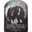 Supernatural Join the Hunt Family Business Tin Sign by Open Road Sam & Dean Winchester, & Castiel