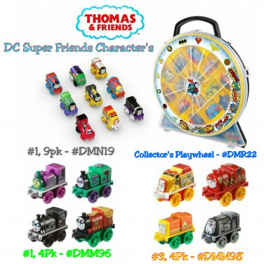 Thomas & Friends DC Super Friends Character Collector's Playwheel Case + Minis Engines 9Pk & 4Pk �2