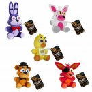 Five Nights At Freddy's FNAF Plush Figures Set of 5 Freddy Mangle Funtime Foxy Foxy Chica & Bonnie