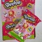 Shopkins 2D Erasers + Stickers & Figure Mystery Blind Bag Packs - x15 Sealed + Retail Display Box