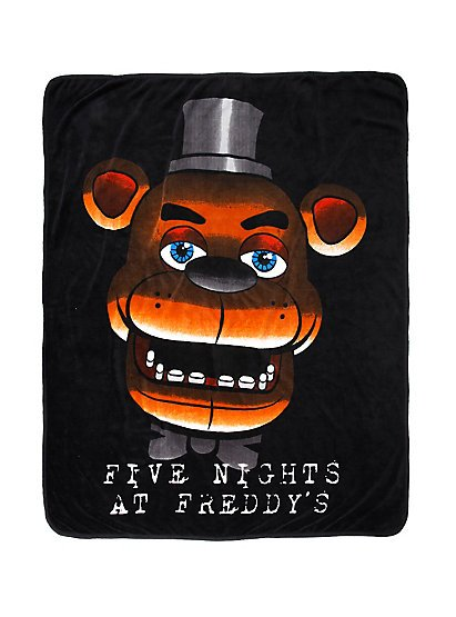 "Five Nights At Freddy's Freddy Fazbear's Face 44""�50"" Throw Blanket"