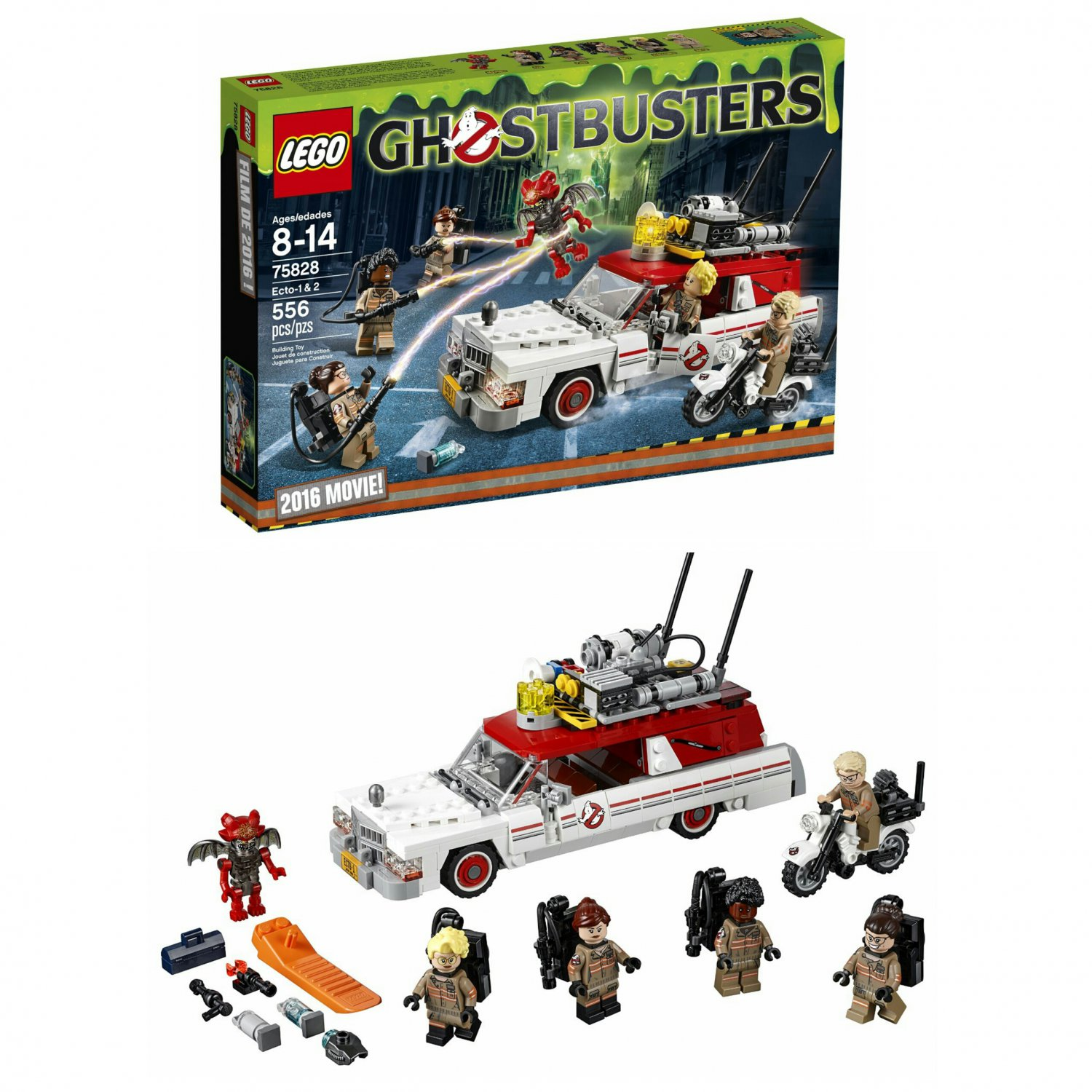 Lego Exclusive 2016 Ghostbusters Movie! Ecto 1 & 2 Vehicles - #75828 - 556 Pieces Building Toy