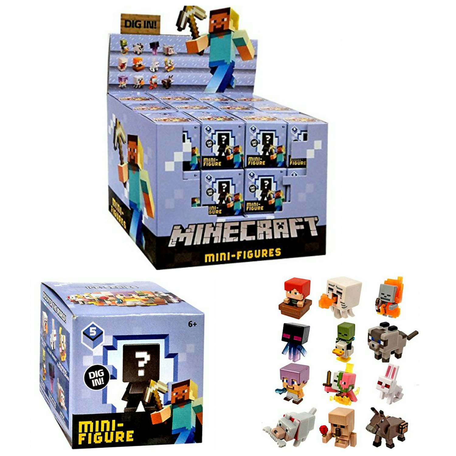 Minecraft Ice Series 5 Mystery Mini Action Figures Blind Box Case of �36 Sealed Packs