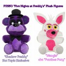 "FUNKO Five Nights At Freddy's FNAF Set of 2 - Shadow Freddy & Mangle 6"" Collectible Plush Figures"