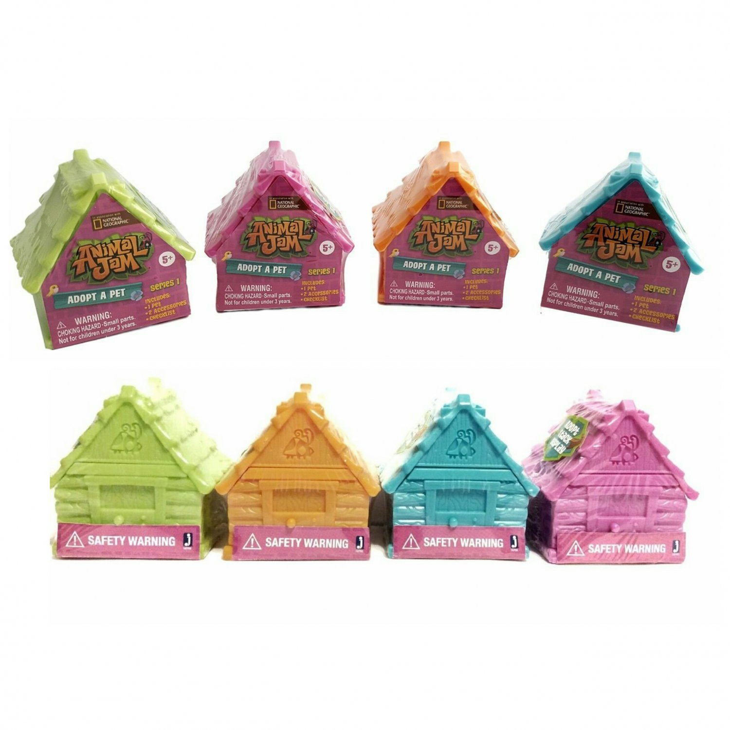 National Geographic Animal Jam Series 1 Adopt a Pet Blind Pack House Full Case of �24 - #16795
