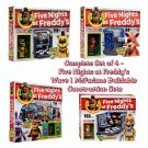 Set of 4 Five Nights at Freddy's McFarlane Sets - The Office, Pirate Cove, Show Stage, & Backstage