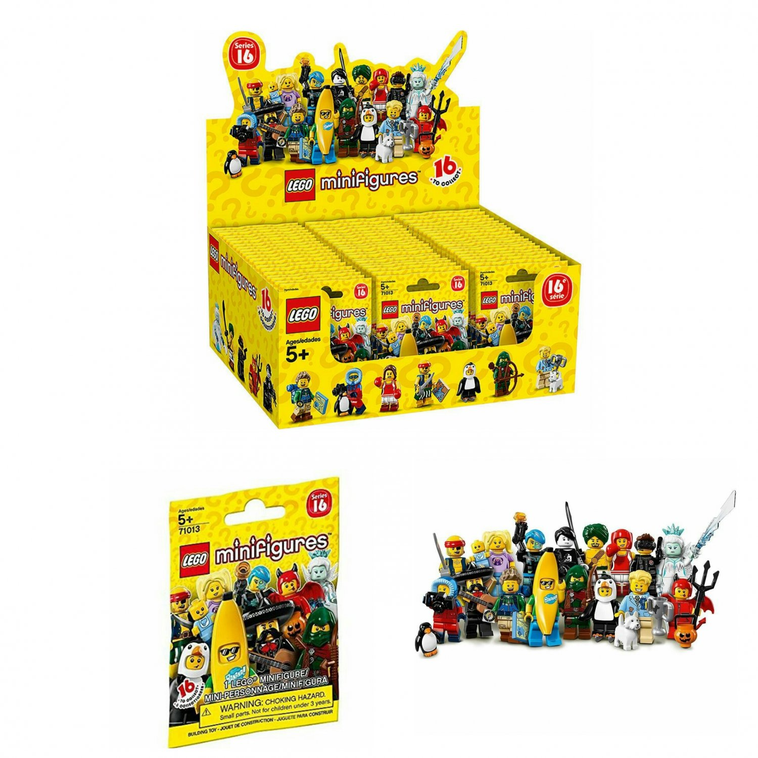 Lego Minifigures Characters Series 16 Mystery Blind Bag #71013 Full Case of �60 Sealed Packs