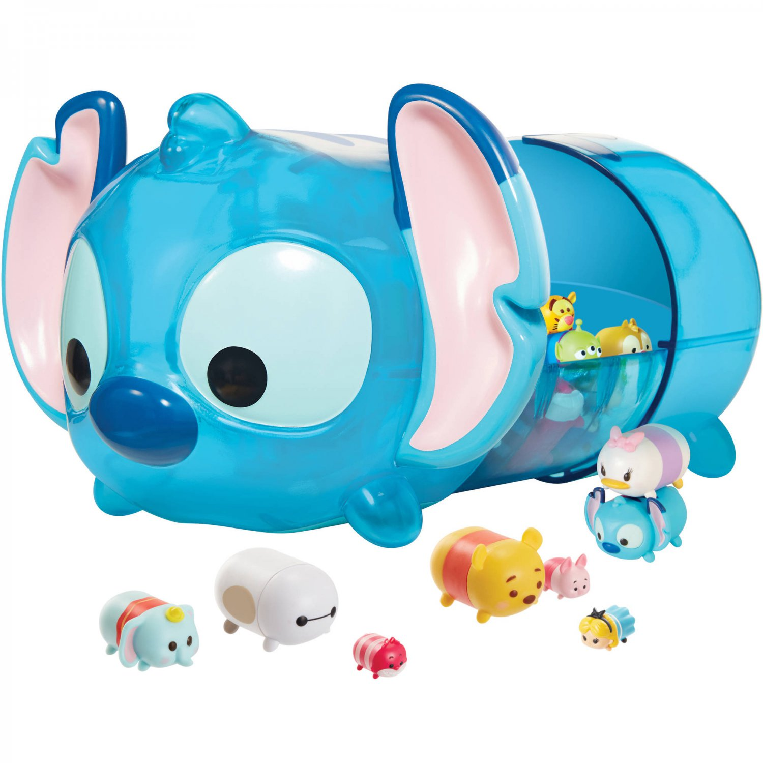 Jakks Pacific Exclusive Disney Tsum Tsum Stitch Case w/1 Large Crystal Figure (5 Pieces) - #09558