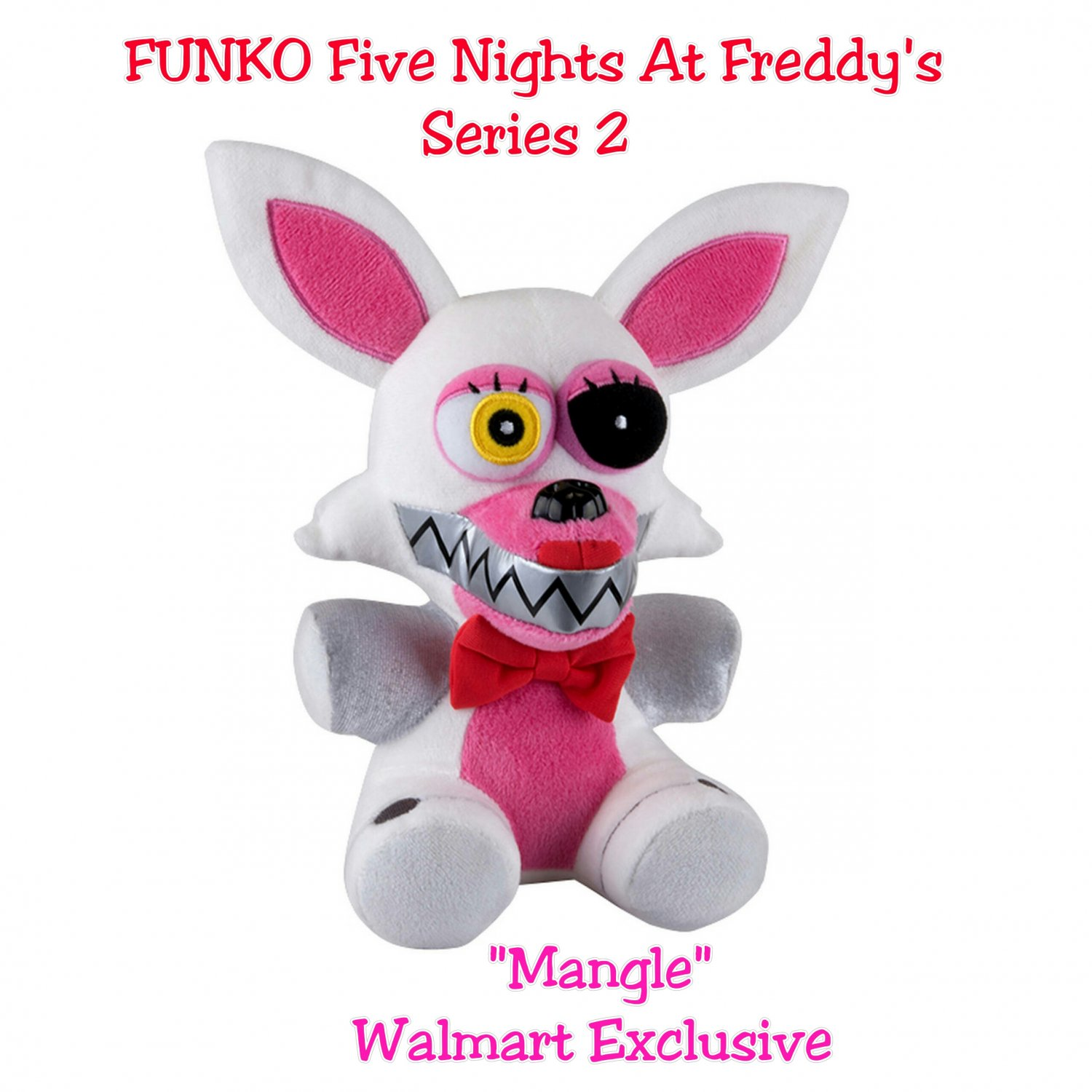 """Five Nights At Freddy's FNAF FUNKO Series 2 Mangle 6"""" Collectible Plush Figure Walmart Exclusive"""