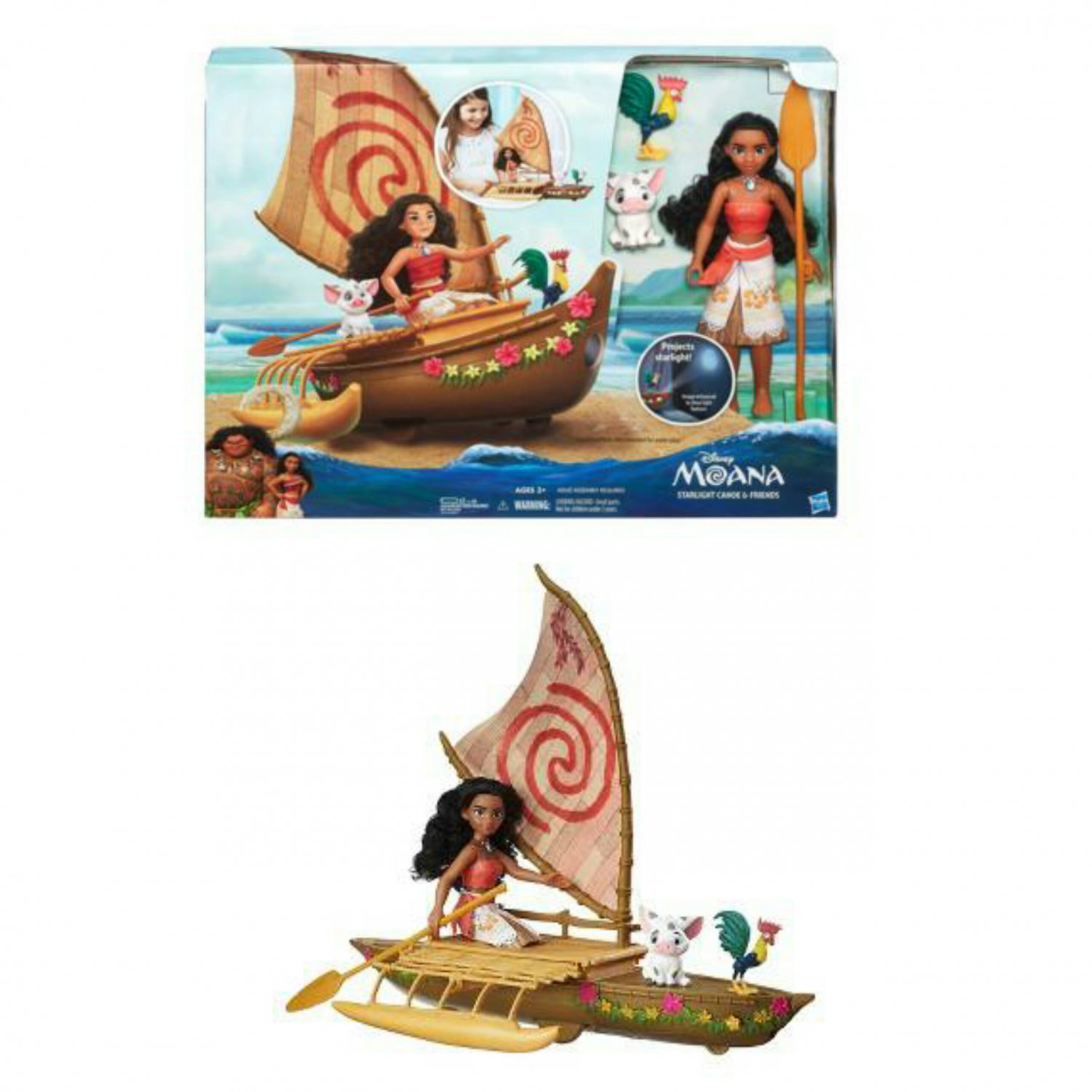 Disney Moana Starlight Canoe & Friends (Pua & Hei Hei) by Hasbro #B8308