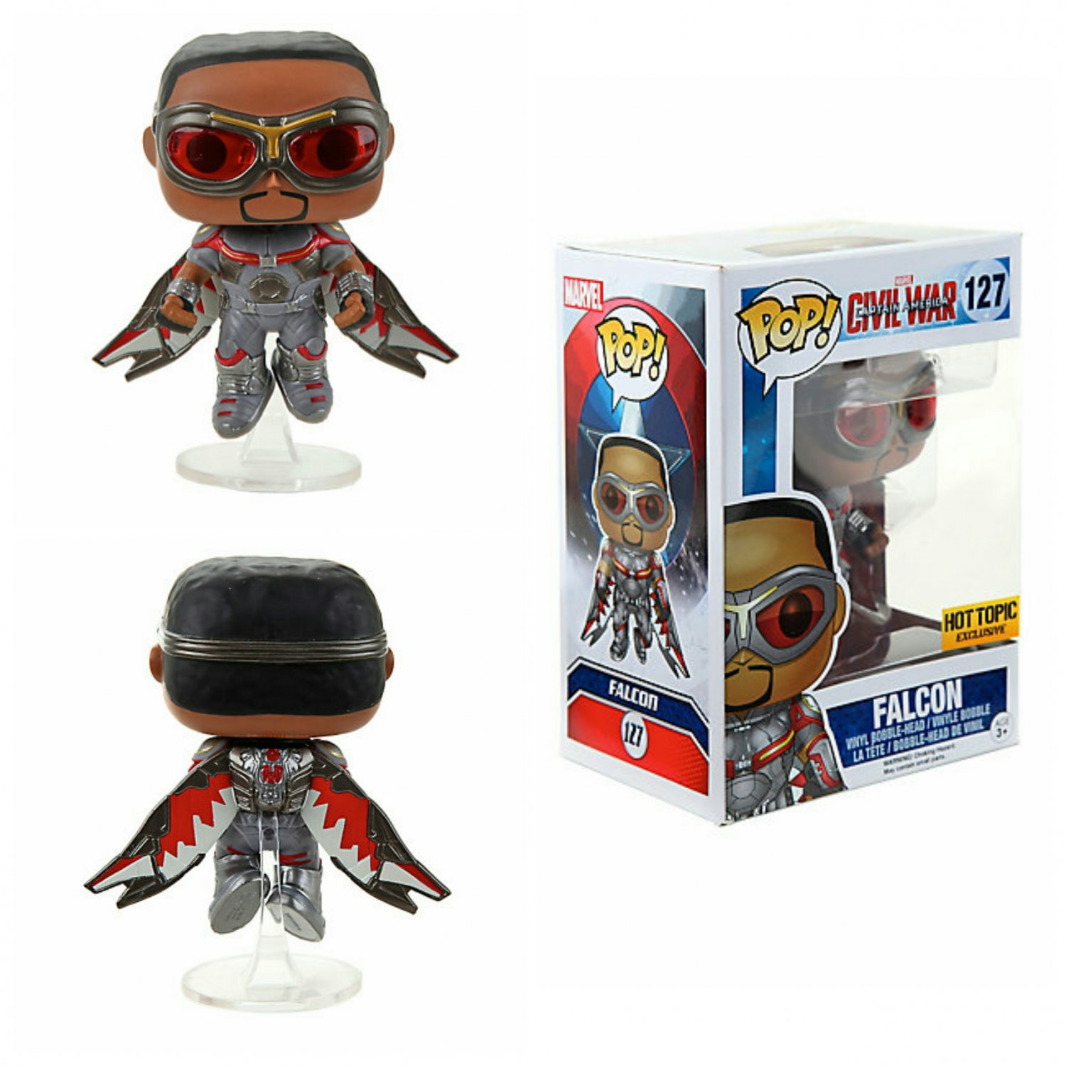 FUNKO Marvel Captain America: Civil War POP! Falcon Bobble-head Figure Hot Topic Exclusive