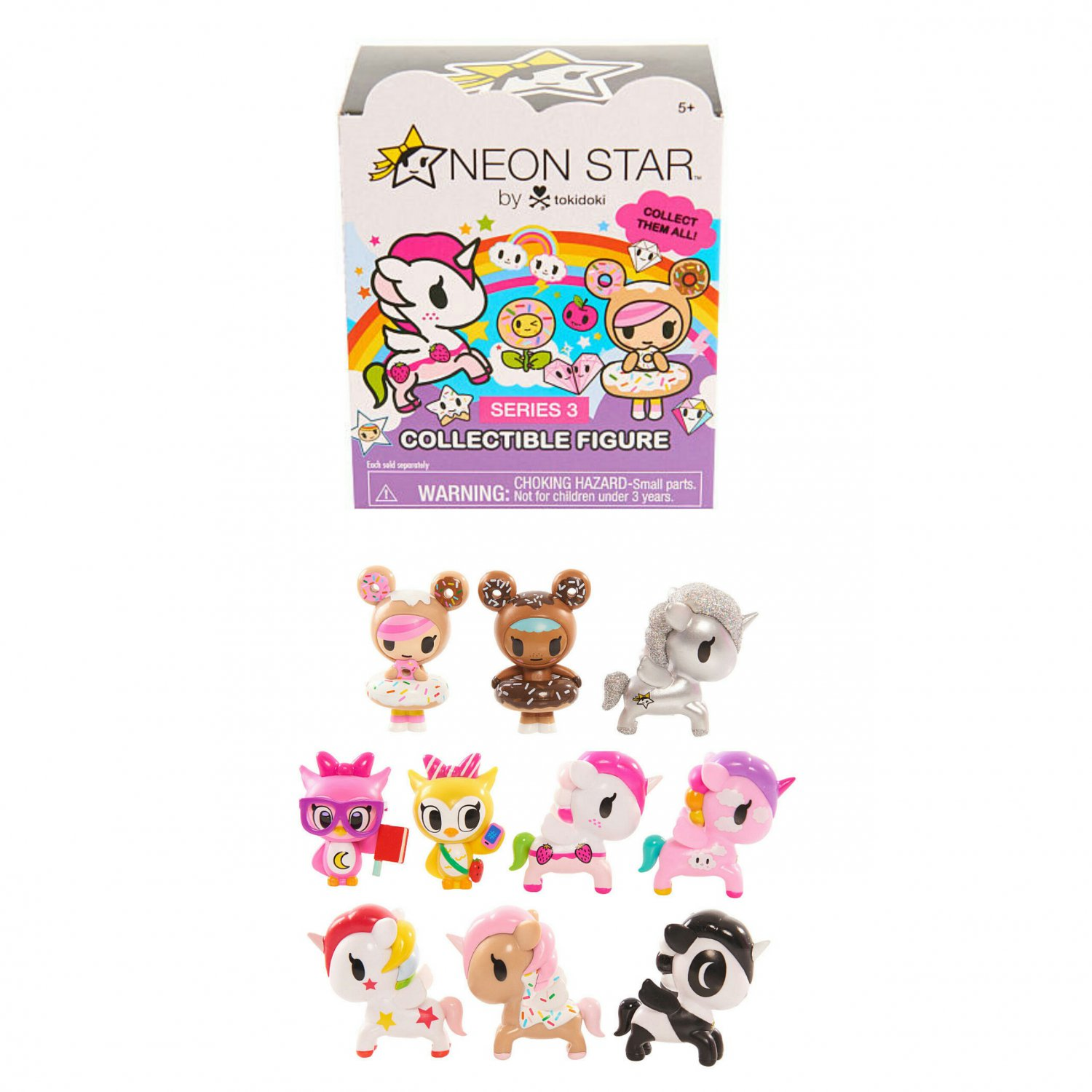 Neon Star by Tokidoki Series 3 Collectible Figures Blind Box - Unicorno �10 By Just Play