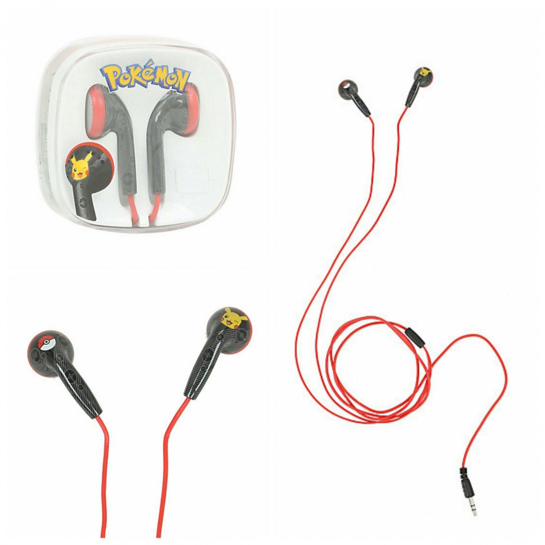 Pokemon Pikachu Poke Ball Earbuds Earphones Headphones