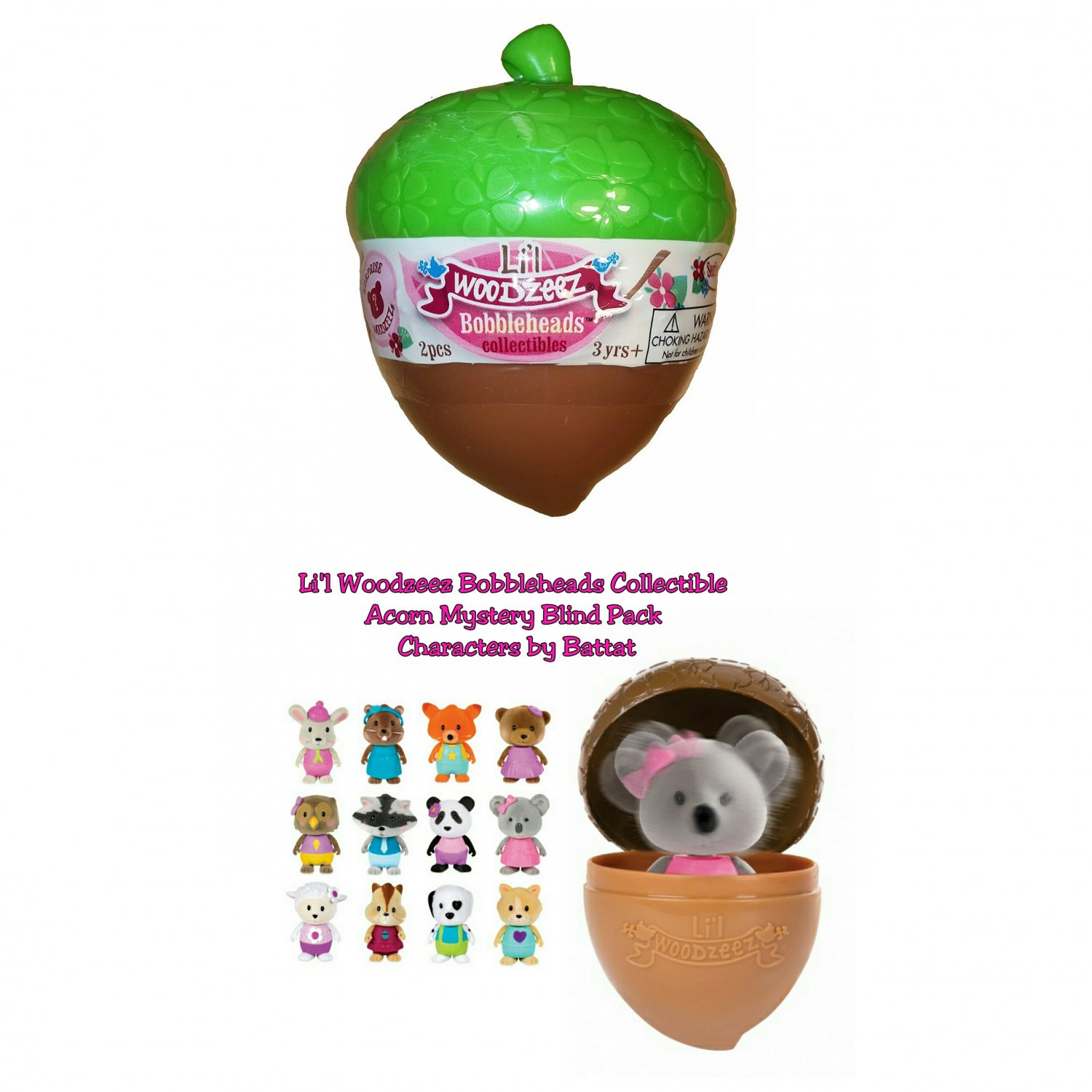 Lil Woodzeez Bobbleheads Collectible Acorn Mystery Blind Packs Series 1 - �12 Sealed