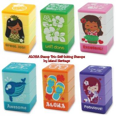 Aloha Stamp Trio Sets Beach Icons, Floral, Marine Life, Pua, Mai, & Aloha Self-Inking Stamps �6
