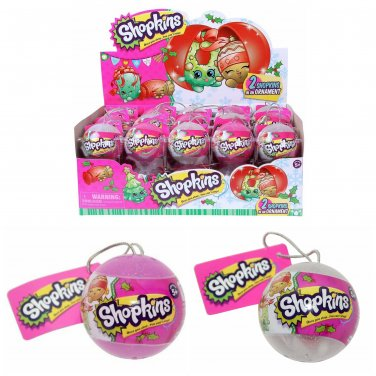 Shopkins Exclusive Holiday 2016 Surprise Christmas Bauble Ornaments 2 Pack - �30 Sealed - #56259