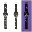 Disney Lilo & Stitch Skeleton & Stars Glow-in-the-Dark Rubber LED Watch