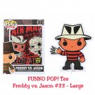 FUNKO Movie POP! #33 Freddy Vs. Jason Short Sleeve T-Shirt - Large Hot Topic Exclusive, Black