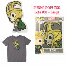 FUNKO Marvel POP! Loki Short Sleeve T-Shirt - Large Hot Topic Exclusive